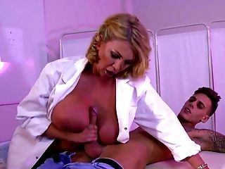 Big Ass, Big Tits, Blonde, Blowjob, Clinic, Cum On Tits, Cumshot, Dentist, Doggystyle, Fake Tits,