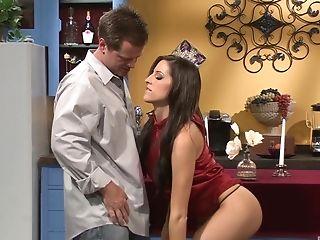 Ball Licking, Big Tits, Blowjob, Couple, Dick, Fake Tits, Friend, Hardcore, Kortney Kane, Long Hair,
