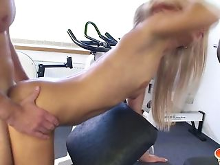Beauty, Blonde, Blowjob, Boobless, Cute, Gym, Hardcore, HD, Horny, Missionary,