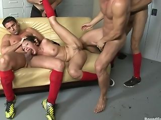 Anal Sex, Double Anal, Double Penetration, Gangbang, Soccer, Vicki Chase,