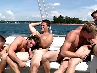 Orgy sex boat