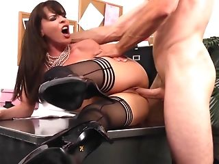 Babe, Brunette, Dana Dearmond, Desk, Dick, Hardcore, Lingerie, MILF, Office, Riding,