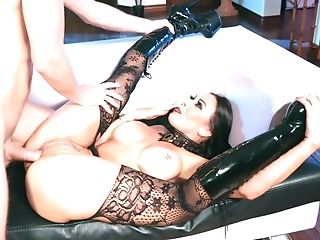 Big Tits, Blowjob, Boots, Brunette, Brutal, Couch, Cowgirl, Cum In Mouth, Cumshot, Doggystyle,