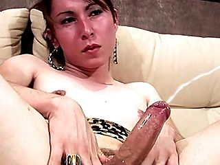 Big Cock, Boobless, Ethnic, Handjob, HD, Latina, Masturbation, Shemale, Small Tits, Thick Cock,
