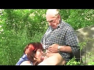 BBW, Fucking, Granny, Mature, Nature, Outdoor, Riding, Saggy Tits,