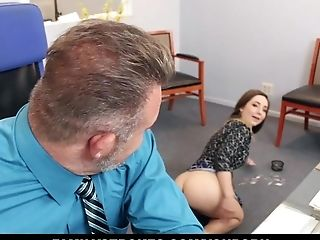 Brunette, Bukkake, CFNM, Clothed Sex, Cumshot, Daughter, Facial, Office, Stepdad, Whore,