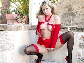 Blonde, College, Fingering, Foot Fetish, Masturbation, Natural Tits, Nude, Outdoor, Pantyhose, Pussy,