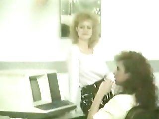 Big Tits, Blonde, Classic, Cum, Office, Retro, Vintage, White,