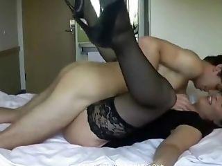 Blowjob, Brunette, Doggystyle, Fucking, Hardcore, MILF, Moaning, Stockings,