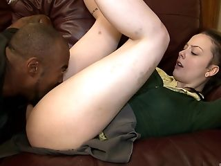 Ass, Big Black Cock, Clothed Sex, Couple, Cute, Doggystyle, Hardcore, Interracial, Teen, Young,