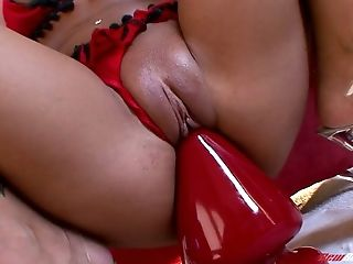 Adriana Deville, Ass, Black, Boobless, Close Up, Dildo, Huge Dildo, Masturbation, MILF, Panties,
