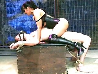 Babe, BDSM, Bondage, Dick, Domination, FFM, Humiliation, Isis Love, Mask, MILF,