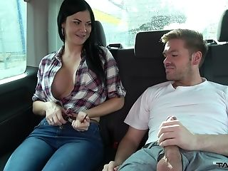 Big Tits, Blowjob, British, Car, Clothed Sex, Couple, Cumshot, Fake Tits, Fucking, Hardcore,