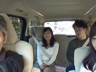 Amateur, Backseat, Car, Ethnic, Fingering, Handjob, Japanese, Masturbation, Moaning, Public,