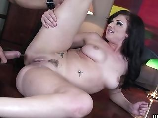 Ava Rose, Blowjob, Couple, Cowgirl, Cumshot, Curvy, Desk, Doggystyle, Hardcore, Long Hair,