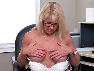 Bobcat, Granny, HD, Jerking, Mature, MILF, Office, Old, Secretary,