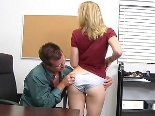 Babe, Blonde, Classroom, College, Desk, Dirty, From Behind, Hardcore, Pussy, Teen,