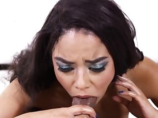 Blowjob, Cum In Mouth, Cumshot, Deepthroat, Facial, Gagging, HD, Latina, Makeup, Pornstar,