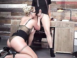 Ass, Balls, Big Ass, Big Natural Tits, Big Nipples, Big Tits, Blonde, Blowjob, Boots, Booty Shaking,