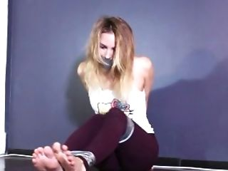 Babe, Barefoot, BDSM, Blonde, Bondage, Cute, Feet, Fetish, Gagging, Old,