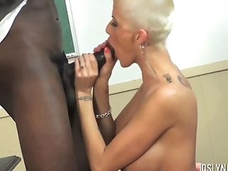 Big Black Cock, Big Cock, Big Tits, Blonde, Blowjob, Couple, Doggystyle, Fake Tits, Handjob, Hardcore,