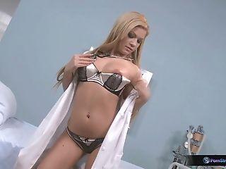 Bibi Noel, Blonde, Latina, Long Hair, Masturbation, Model, Nurse, Sexy, Solo, Uniform,