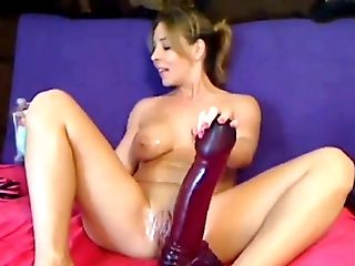 Clamp, Dildo, European, Fake Tits, Huge Dildo, Pussy, Solo, Webcam,