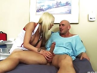 Big Cock, Blonde, Blowjob, Condom, Dick, Doctor, Eden Adams, HD, POV, Uniform,