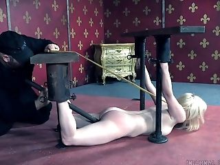 BDSM, Blonde, Bound, Feet, Fetish, Submissive, Torture,