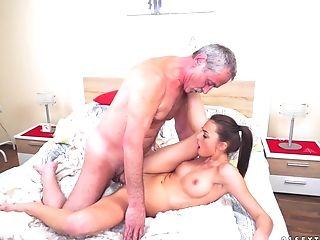 Ass, Babe, Brunette, Cowgirl, Cumshot, Doggystyle, Handjob, Hardcore, Missionary, Old,