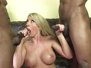 Anal Sex, Big Black Cock, Big Cock, Big Tits, Blonde, Blowjob, Bold, Cowgirl, Cum, Cum In Mouth,