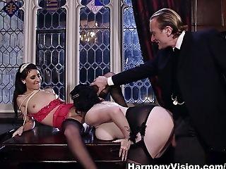 Amazing, Big Tits, Cumshot, Jasmine James, Jess West, Lexi Lowe, Pornstar, Stockings, Threesome,