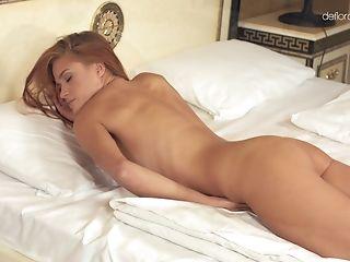 Babe, Cute, Horny, Long Hair, Masturbation, Model, Redhead, Solo,
