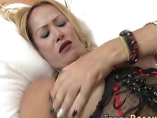 Adorable, Big Tits, Blonde, Cute, Game, HD, Masturbation, Shemale, Solo, Tranny,