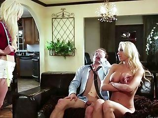 Ass, Big Tits, Blonde, Blowjob, Cowgirl, Cuckold, Cumshot, Handjob, Housewife, Katie Morgan,