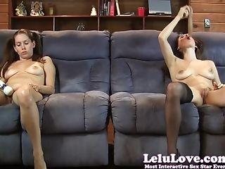 Couch, Dildo, HD, Jerking, Lelu Love, Masturbation, Sex Toys, Stockings, Twins,