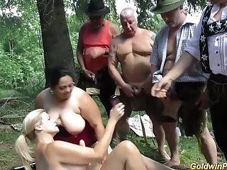 Babe, BBW, German, Orgy, Outdoor,