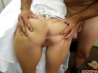 Babe, Big Cock, Blonde, Blowjob, Bride, Cute, Dress, Wedding,