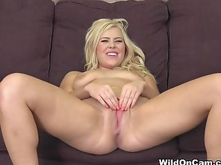 Amazing, Blonde, Boobless, Dildo, Facial, Natural Tits, Pornstar, Sex Toys, Taija Rae,