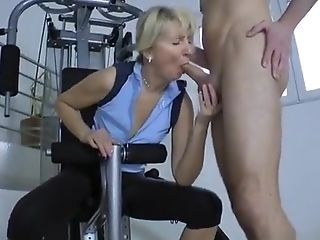 Blonde, Coach, Gym, MILF, Seduction,