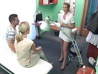 Amateur, Clinic, Doctor, FFM, Group Sex, Hospital, Oral Sex, Reality, Threesome, White,