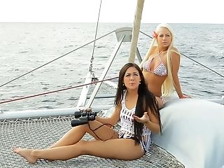 Bikini, Boat, Cute, Foursome, Friend, Group Sex, Hardcore, Long Hair, Outdoor,