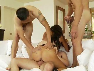 Anal Sex, Blowjob, Cowgirl, Danica Dillan, Double Penetration, Foursome, Gangbang, Handjob, Hardcore, Long Hair,