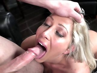 Ass, Blonde, Blowjob, Couple, Cute, Dick, Face Fucking, Hardcore, Lexi Lowe, Panties,